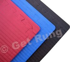 100 sqft black dog agility training k-9 obedience floor mat matting puzzle tiles