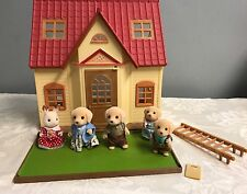 Sylvanian families / Calico Critters Cozy Cottage House & Rabbit Bears