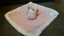 Cow Security Blanket  Pink~Brown~Gray Animal Adventure Baby Girls Lovey 2014