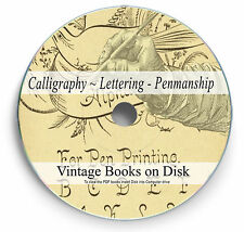Rare Vintage Calligraphy Penmanship Book on DVD Lettering Typography Pen Ink 271