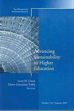 Advancing Sustainability in Higher Education: New Directions for Institutional R