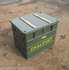 Military Aluminium Transport Shipping Storage Flight Box Chest Case Ex MOD Army