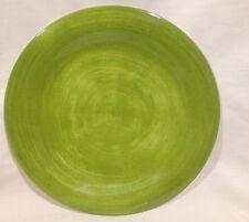 """Longaberger Sunny Day Melamine 11"""" Green Dinner Plate"""