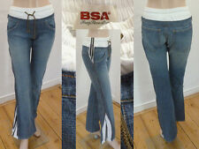 BSA Bray Steve Alan Jeans Schlupfjeans Jogginghosen Look blue denim 30 1A