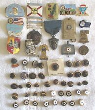 Lot of 57 Vintage to Now American Legion & Auxiliary War Veteran Pins, Jewelry