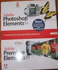 *SEALED* Adobe Photoshop Elements 5.0 Plus Premiere Elements 3.0 for Windows PC