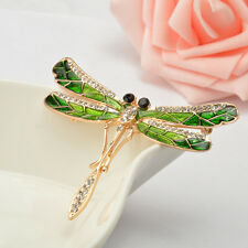 Novelty Crystal Dragonfly Design Brooch Pin With Personality Insect Jewelry
