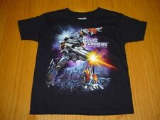 NEW HASBRO TRANSFORMERS BLACK T-SHIRT BOYS 4/5 COTTON