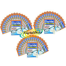 60x Clearwipe Lens Cleaner Microfibre Soft Wipes Pre Moistened Wipes