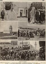 IMAGE 1911 PRINT LYBYE LIBYA TRIPOLI MARCHE MOSQUEE MOSQUE MARKETPLACE