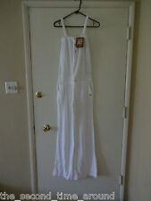 Juicy Couture Velour white  Wide Leg Jumpsuit With Gold Buttons Size Small NWD