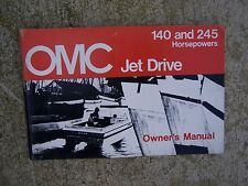 1974 OMC Jet Drive Owner Manual 140 245 HP Marine Engine MANY MORE IN STORE!   S