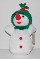 "Ty Beanie Baby Snowgirl Plush 9"" Winter Stuffed Animal Retired with Tag 2000"