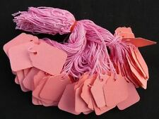 200 x 32mm x 22mm Pink Strung String Tags Swing Price Tickets Tie On Labels