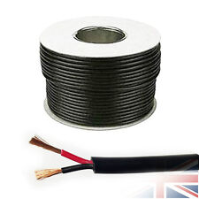 11 AMP 12V 0.75mm ROUND Wall 2 Twin Core DC Power Cable Wire Car LED 10 Meters