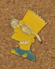 A70 VINTAGE PIN CARTOON CHARACTER BD THE SIMPSONS BART SUNGLASSES 1.1""