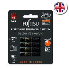 Fujitsu Pro Negro 950mah AAA de alta capacidad batería recargable NiMH (4 Pack)