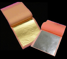10 SILVER AND 10 GOLD LEAF SHEETS /LEAVES GILDING NAIL ART CRAFT SUPPLIES