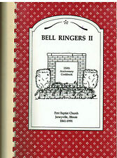 *JERSEYVILLE IL 1990 BELL RINGERS II COOK BOOK *FIRST BAPTIST CHURCH *ILLINOIS