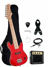 "NEW Raptor EP-3 Kid's 30"" RED Electric Guitar Pack w/ 3W Amp, Gig Bag, Strap"
