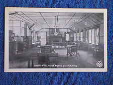Jewish Welfare Board Building-Interior View/WWI Printed Photo Postcard/Unposted
