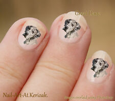 Great Dane  24 Unique Designer Dog Nail Art Stickers Decals