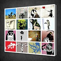 BANKSY COLLECTION CANVAS WALL ART PICTURES PRINTS VARIETY OF SIZES FREE UK P&P