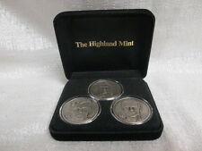 Goaltenders Brodeur Hasek Roy Highland Mint Solid Nickel Silver 3 Coin Set