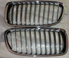 BMW Brand OEM F30 F31 3 Series Sedan Luxury-Line Full Chrome Kidney Grille Pair