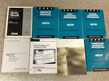 2001 Dodge Neon Shop Service Repair Manual SET W DIAGNOSTICS +TRAINING BOOKS OEM