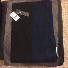 NWT MARC BY MARC JACOBS MENS COLOUR-BLOCK CASHMERE SCARF BLUE/BLACK