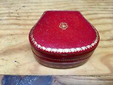 Vintage Jewelry Box Ring/Necklace - RED