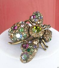 JOAN RIVERS PRISMATIC CRYSTAL BEE PIN MULTI COLORED  STATEMENT PIN STUNNING!