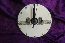 W/H Dachshund CD Clock by Curiosity Crafts