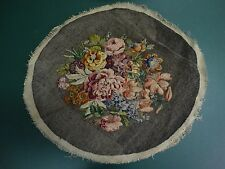VINTAGE ANTIQUE TAPESTRY NEEDLEPOINT WORK  ART CRAFT