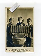 "Antwerp OH Ohio (Paulding Co) RPPC real photo children, ""Ready for Corn Show"""
