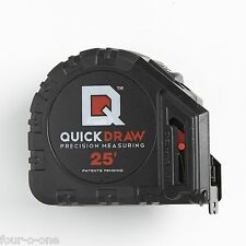 QuickDraw 25' Precision Measuring Tape-Contractor Grade, Features Self-Marking