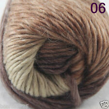 Sale 1Skein x 50gr NEW Hand Knitting Yarn Chunky Colorful Wool scarves shawls 06