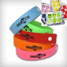100 Pack Mosquito Repellent Bracelet Wristband, Deet Free Insect  + 30 Stickers