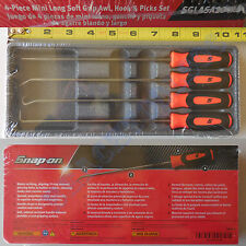New Snap On Orange Instinct Grip Miniature Long Awl Picks 4 Pcs Set SGLASA204