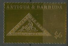 Antigua & Barbuda Cap Bonne Esperance 1 Penny Good Hope ** 1986 Or 24K Gold Foil