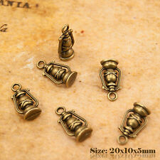 5 Antique Vintage Style Bronze Oil Lamp Charms Pendant 022