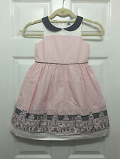 NWT Janie and Jack Rooftop Border Dress, High Tea Treasures, Size 5