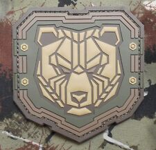 INDUSTRIAL BEAR 3D PVC TACTICAL BADGE USA ARMY ISAF MORALE MULTICAM HOOK PATCH