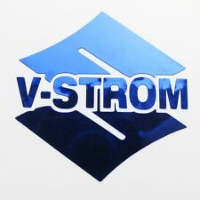 VSTROM chrome blue motorcycle decals custom graphics 70mm x 70mm