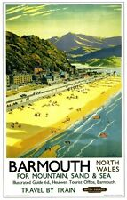 Barmouth (3) Railway Retro Vintage Old Picture Old School Poster Print A4