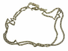 Ladies Silver Scroll Vintage Style Pewter Spectacle Chain With Traditional Faste