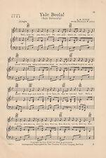 VTG YALE UNIVERSITY song sheet - 'YALE BOOLA!'- NEW HAVEN music C 1936 CT.