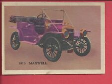 1957 Premiere trading cards Antique autos 1910 MAXWELL