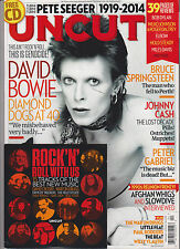 UNCUT MAGAZINE UK APRIL 2014 + FREE CD, DAVID BOWIE DIAMOND DOGS AT 40.